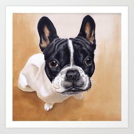 French Bulldog Gouache Artwork Art Print