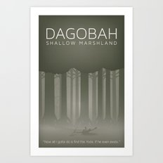 Star Wars Dagobah Art Print