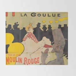 """Henri de Toulouse-Lautrec """"La Goulue"""" Throw Blanket"""