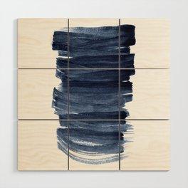 Just Indigo 3 | Minimalist Watercolor Abstract Wood Wall Art