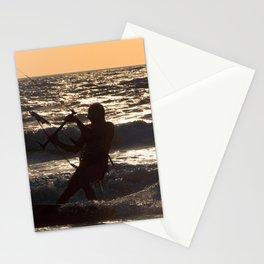 Kitesurfing at Arambol Stationery Cards