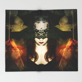 Madame Mayhem Throw Blanket