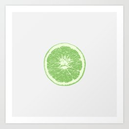 Lime - Citrus Art Print