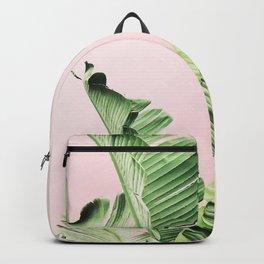 Banana Leaf on pink Backpack
