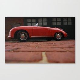 356 Porsche Speedster - Red brick and water Canvas Print