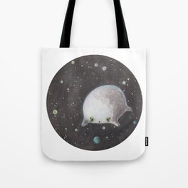 Blob floating in space Tote Bag