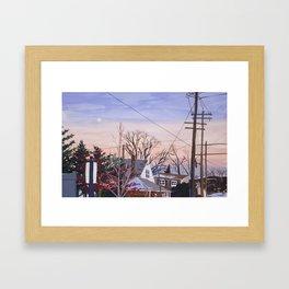 Sunset in NY Framed Art Print