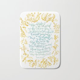 Take Delight in the Lord- Psalm 37:4-6 Bath Mat