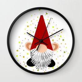 Santa - Gnome Wall Clock