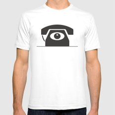 Eye Phone White Mens Fitted Tee MEDIUM