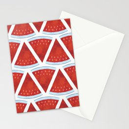 Red Watermelon Pattern Stationery Cards