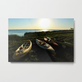 Kayaking on the Sound Metal Print