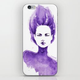 Purple Water Faery iPhone Skin