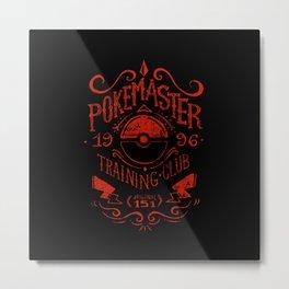 Poke Master Training Metal Print