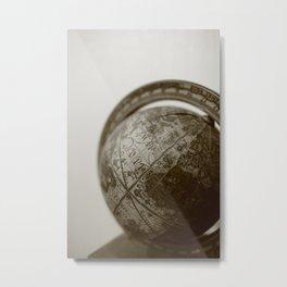 Grandfather's globe Metal Print