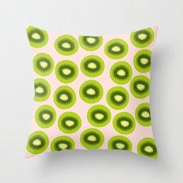 Cute Kiwi Fruit Throw Pillow