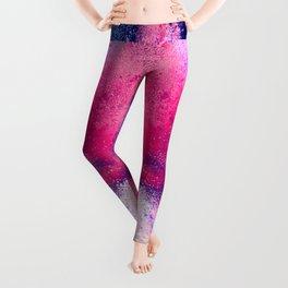 Powder Dust Explosion Nebula of Colors Leggings