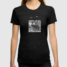 Are you black with white stripes? T-shirt