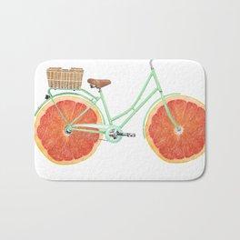 Vintage Bike Grapefruit Bath Mat