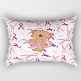 Breast Cancer Awareness Bear Rectangular Pillow