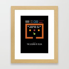 Minimal NES - The Legend of Zelda Framed Art Print