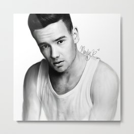 Liam Payne Photoshop Sketch Metal Print