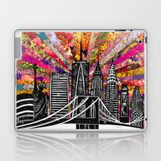 Linocut New York Blooming Laptop & iPad Skin