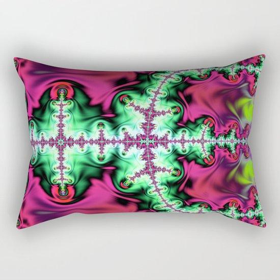 Life stream, fractal abstract art Rectangular Pillow