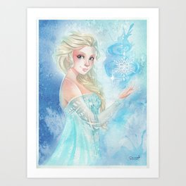 Cold never bothered me Art Print