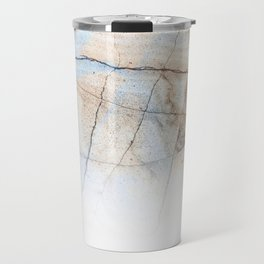 Cotton Latte Marble - Ombre blue and ivory Travel Mug