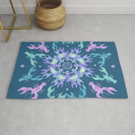 Lobster Mandala Rug