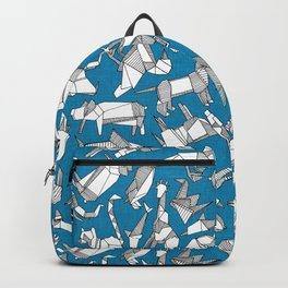 origami animal ditsy blue Backpack