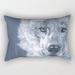 Blue Wild Soul Rectangular Pillow