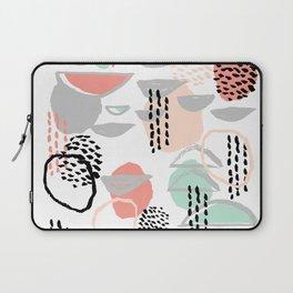 Callie - abstract minimal pastel art print texture ink hipster minimalist office or nursery Laptop Sleeve