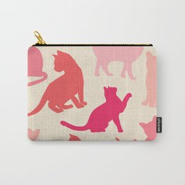 Retro Cats - Pink and Cream Palette  Carry-All Pouch