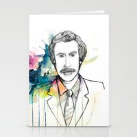 anchorman Stationery Cards featuring Ron Burgundy, Anchorman of Legend by AnnieInk