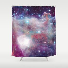 Eagle Nebula Horsehead Nebula Pastel Shower Curtain
