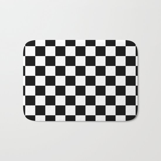 Checker (Black/White) Bath Mat