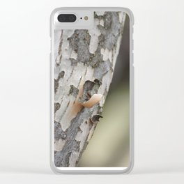 Tree Shaving Clear iPhone Case