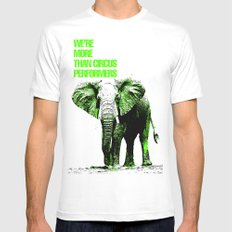 African Elephant MEDIUM Mens Fitted Tee White