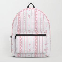 Blush pink white bohemian arrows zigzag geometrical Backpack