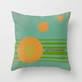 Stereolab (ANALOG zine) Throw Pillow