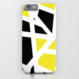 Abstract Interstate  Roadways Black & Yellow Color iPhone Case