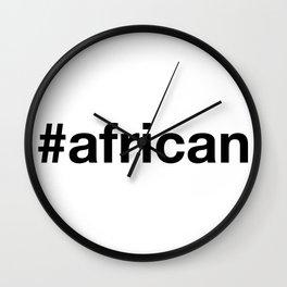 AFRICAN Hashtag Wall Clock