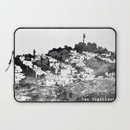 Telegraph Hill Print Black and Grey Laptop Sleeve