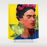 frida Shower Curtains featuring Frida by Jesus Servin