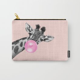 Bubble Gum Sneaky Giraffe Pink Carry-All Pouch