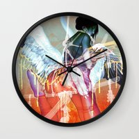 bondage Wall Clocks featuring ero ero: Katana Bondage by kunkka