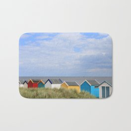 Suffolk Beach Huts Bath Mat