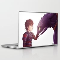 hiccup Laptop & iPad Skins featuring Hiccup & Toothless by MaliceZ
